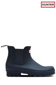 Hunter Blue Original Chelsea Boots