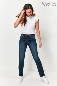 M&Co Blue Straight Leg Jeans