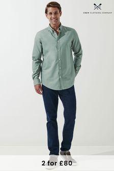 Crew Clothing Company Green Slim Oxford Shirt