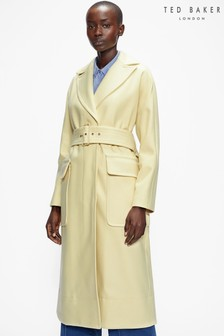 Ted Baker Ttessaa Brushed Wool Belted Coat