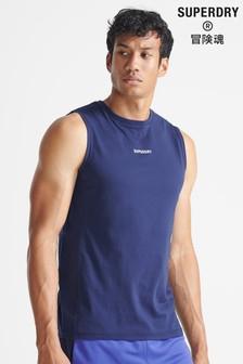 Superdry Blue Sport Train Core Vest