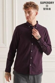 Superdry Purple Organic Cotton Uni Oxford Shirt