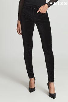Reiss Lux Velvet Skinny Fit Jeans