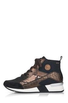 Rieker Womens Black Combination Trainer Boots