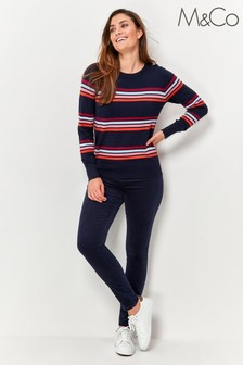 M&Co Blue Cord Style Jeggings