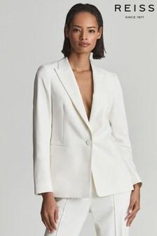 Reiss Devon Single Breasted Wool Blend Blazer