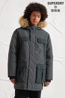 Superdry Grey Unisex Survivalist Down Parka Coat