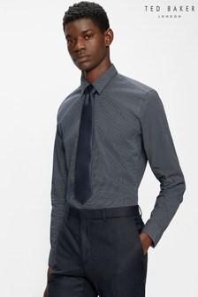 Ted Baker Blue Gelvss Navy Ls Slim Fit Shirt