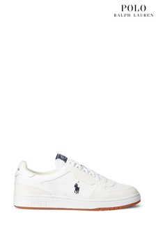 Polo Ralph Lauren Off White Polo Court Trainers