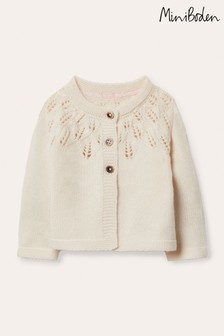 Boden Neutral Everyday Textured Cardigan