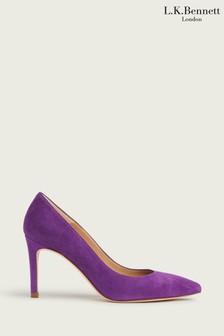 L.K.Bennett Purple Floret Single Sole Point Shoes