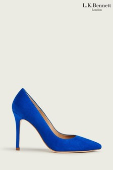 L.K.Bennett Blue Fern Pointed Pumps