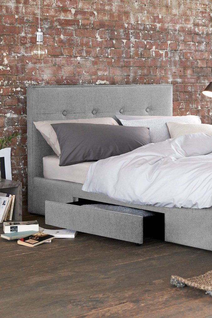 Compare retail prices of 2 Drawer Bedstead Studio Collection By Next - Wool Blend Grey to get the best deal online