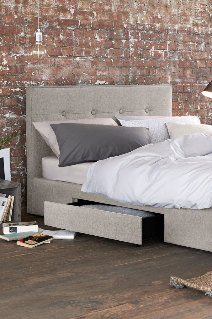 Compare retail prices of 2 Drawer Bedstead Studio Collection By Next - Wool Blend Stone to get the best deal online