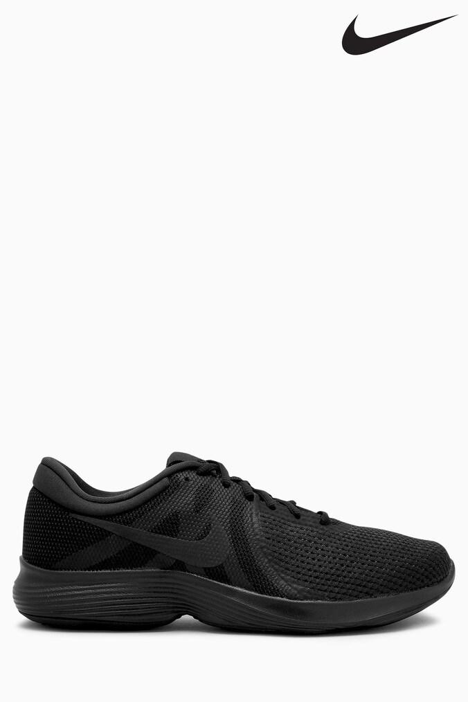 5b931314643aa Mens Nike Run Revolution 4 - Black