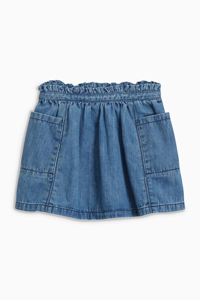 Girls Next Denim Pocket Skirt (3mths-6yrs) -  Blue