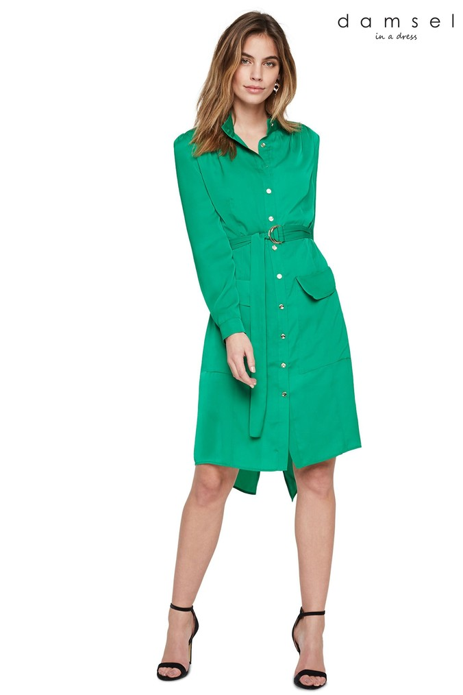 Womens Damsel In A Dress Green Tulia Tunic Dress -  Green