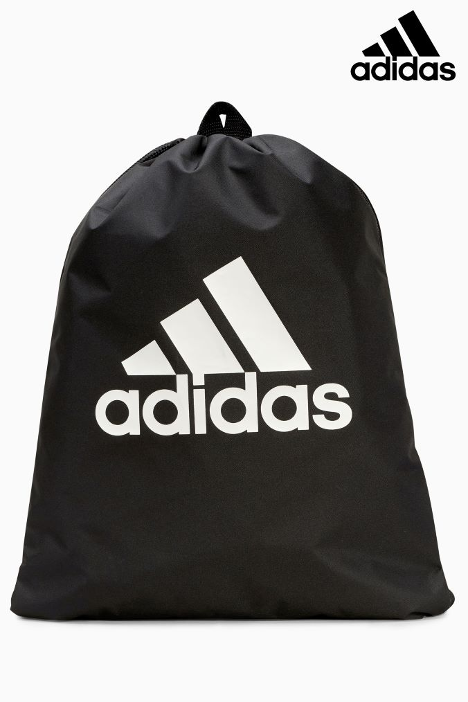Compare prices for Boys adidas Black Stack Logo Gymsack - Black
