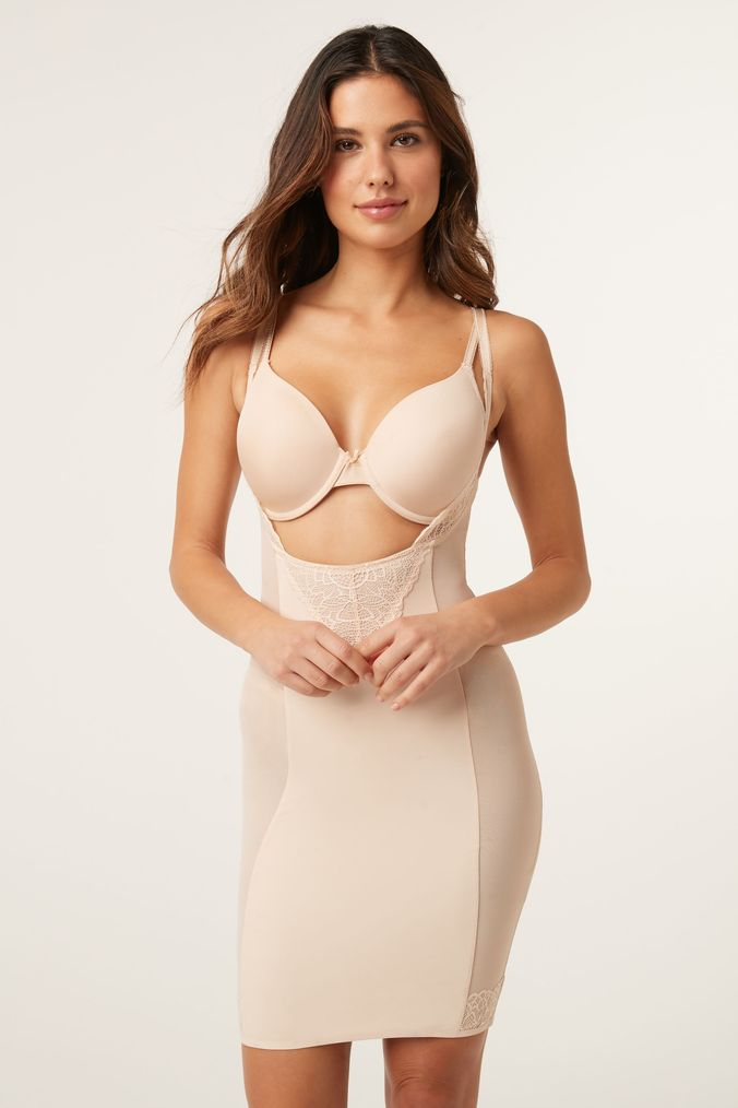 Womens Next Nude Firm Control Wear Your Own Bra Slip -  Nude