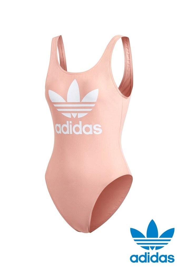 Womens adidas Originals Coral Trefoil Swimsuit -  Pink