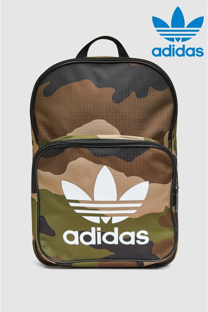 Mens adidas Originals Camo Classic Backpack -  Brown