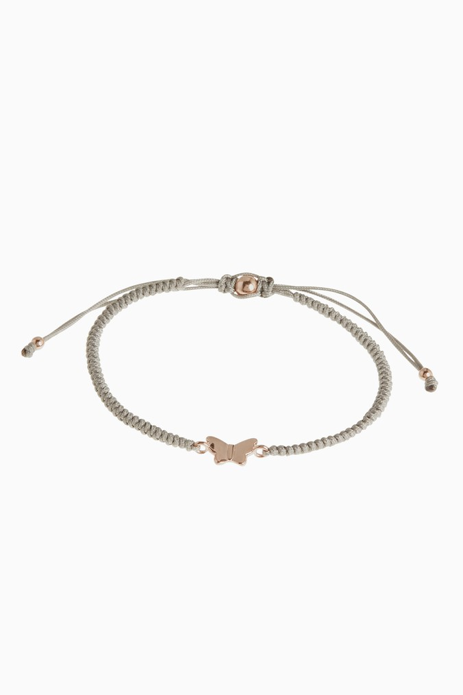 Womens Next Rose Gold Butterfly Pully Bracelet -  Pink