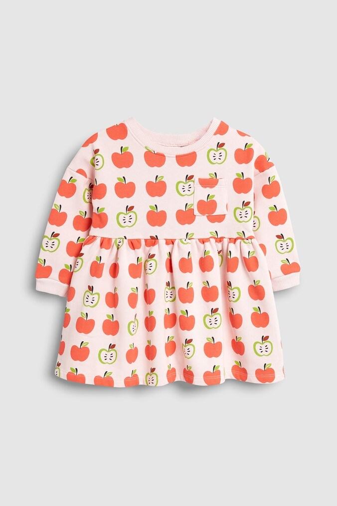 Girls Next Pink Apple Sweat Dress (3mths-7yrs) -  Pink