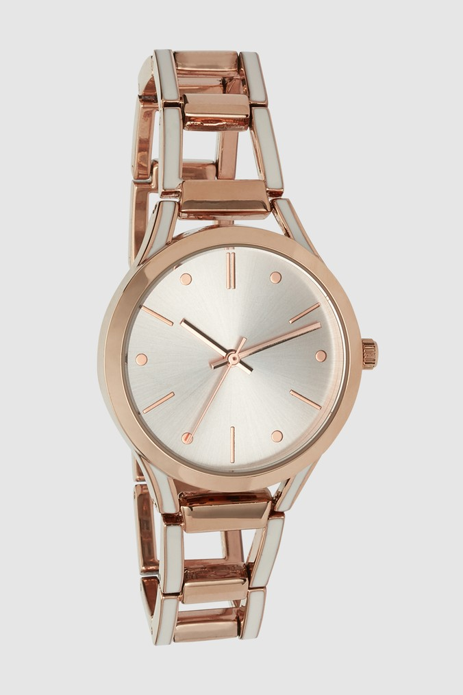Womens Next Rose Gold Tone Open Link Boyfriend Watch -  Gold