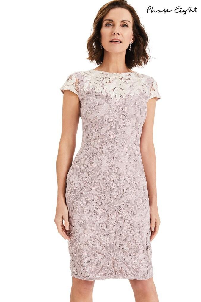 7b538d2e9da Womens Phase Eight Pink Jana Tapework Dress - Pink - Next at Westquay -  Shop Online