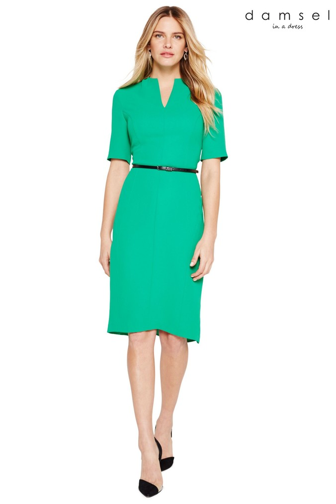 Womens Damsel In A Dress Green City Suit Dress -  Green