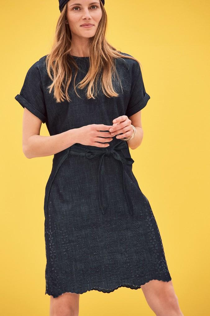 Womens Next Navy Cutwork Embroidered Dress -  Blue