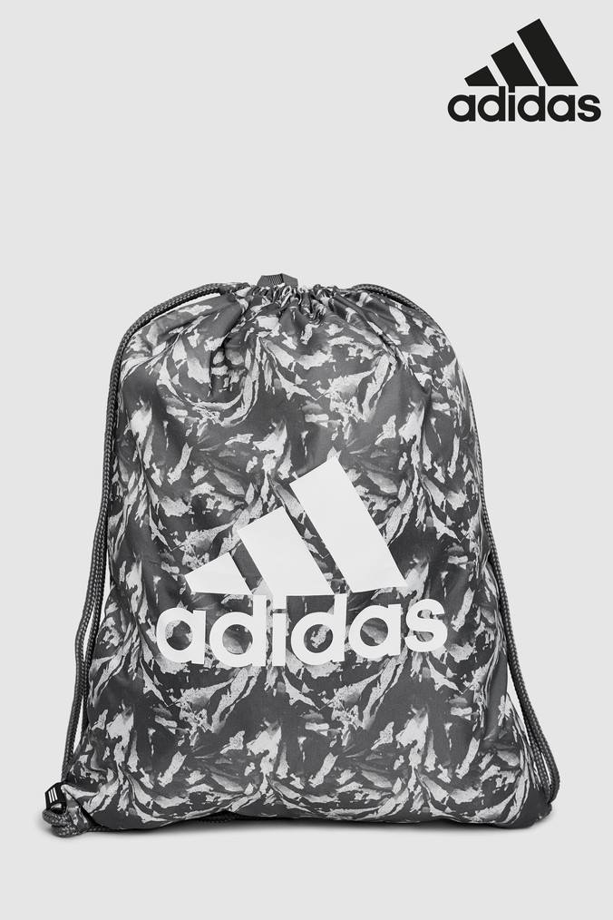Compare prices for Boys adidas Grey Print Gymsack - Grey