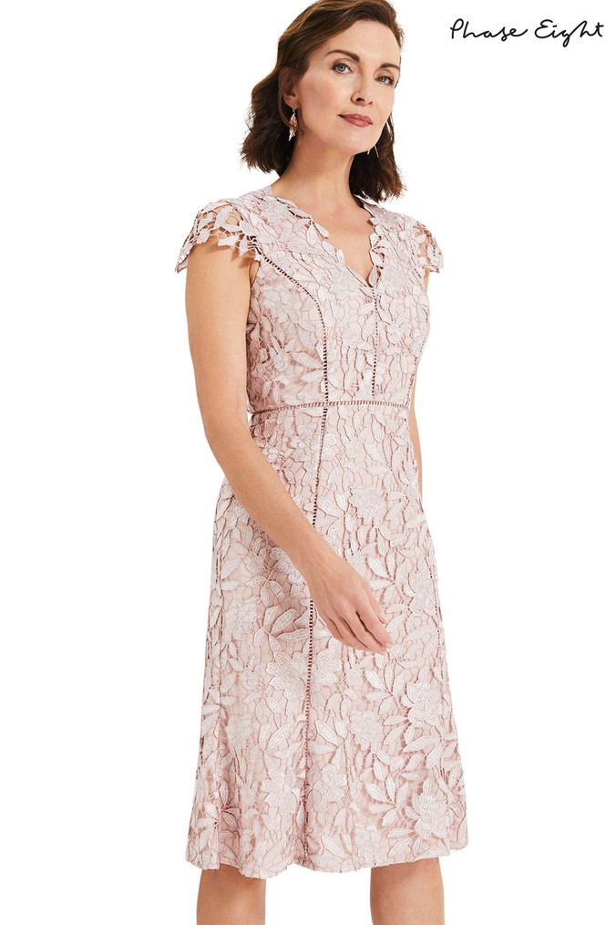 39f0034da2 Womens Phase Eight Pink Amaya Lace Dress - Pink