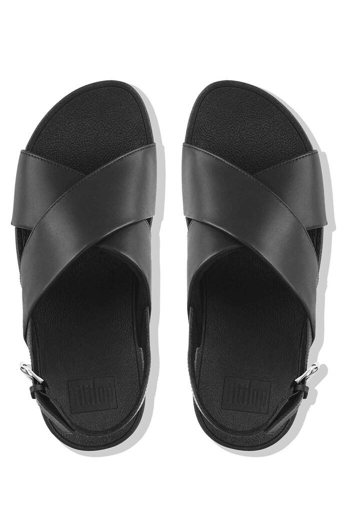 c887868873f26f Womens FitFlop Leather Lulu Cross Back Strap Sandal - Black