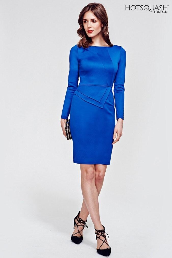 Womens HotSquash Royal Blue Fitzrovia Ponte Dress -  Blue