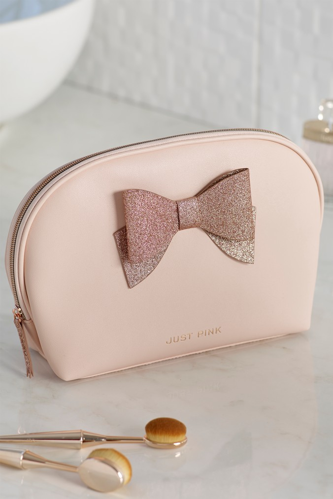 Womens Next Just Pink Cosmetic Bag -  Pink