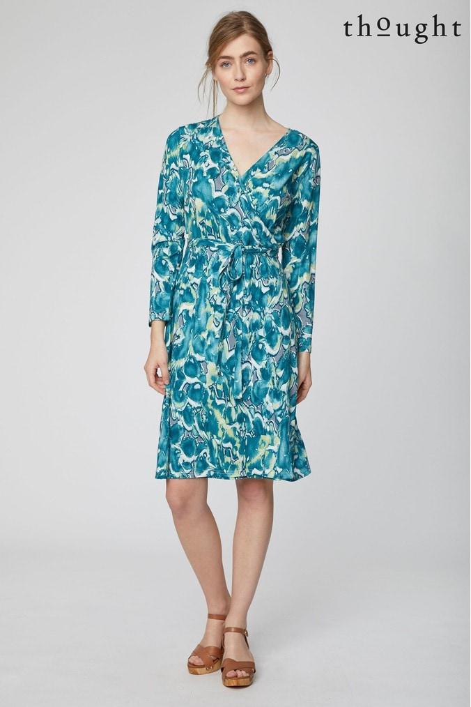 Womens Thought Green Emmeline Dress -  Green