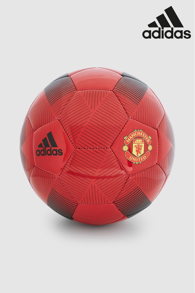 Compare prices for Boys adidas Manchester United FC Football - Red