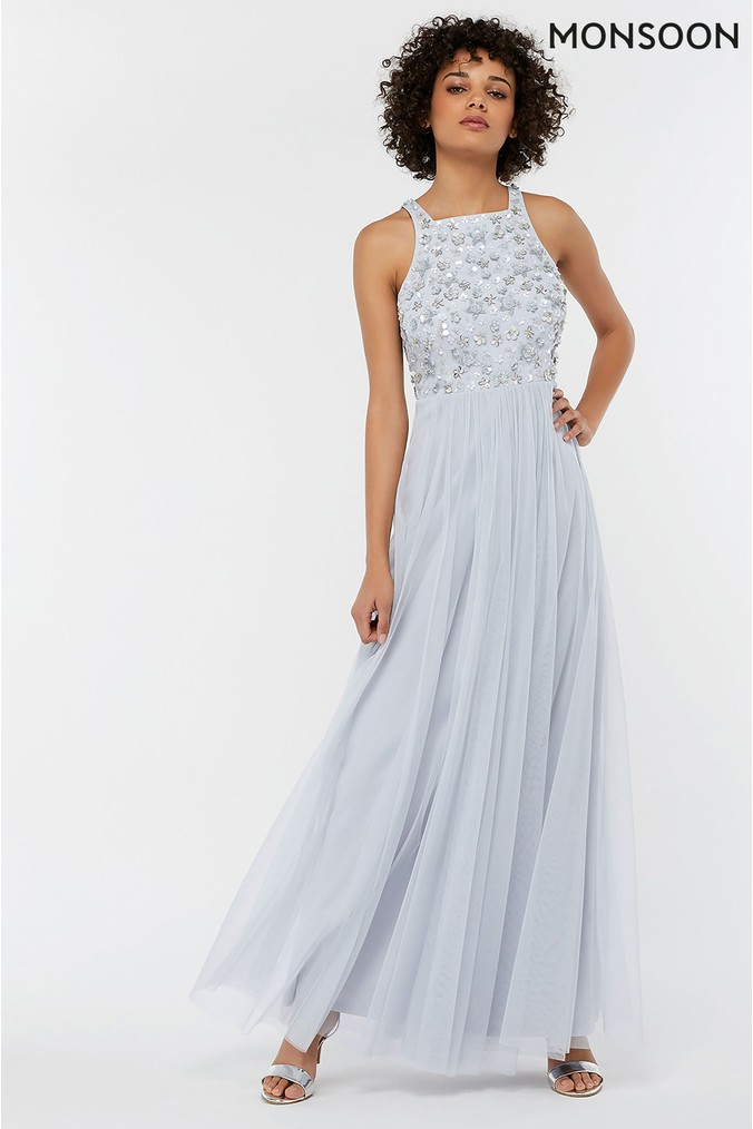 Womens Monsoon Blue Constance Sequin Embellished Maxi Dress -  Blue