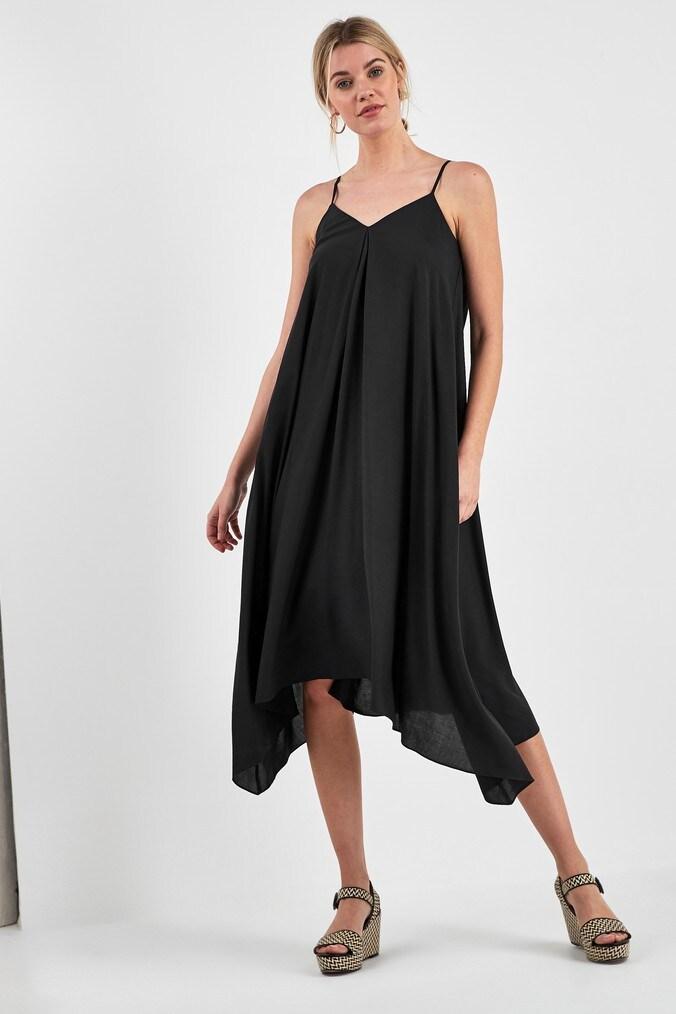 Womens Next Black Floaty Cami Dress -  Black