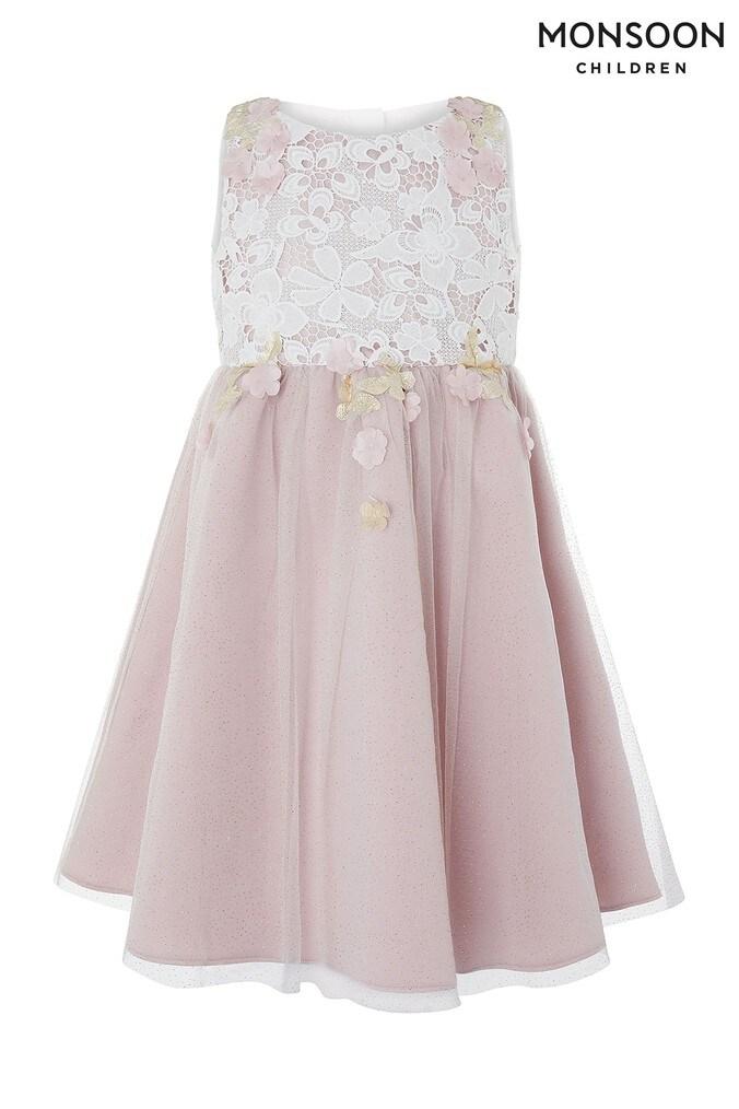Girls Monsoon Pink Sakura Blossom Dress -  Pink