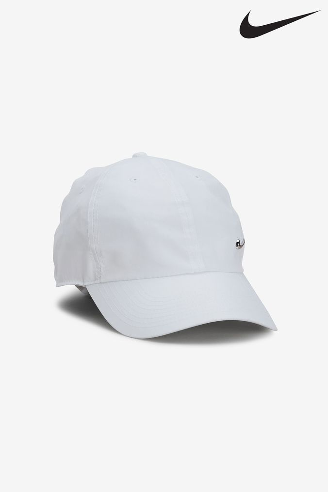 Mens Nike Adult White Essential Metal Swoosh Cap - White  610ba89adcb