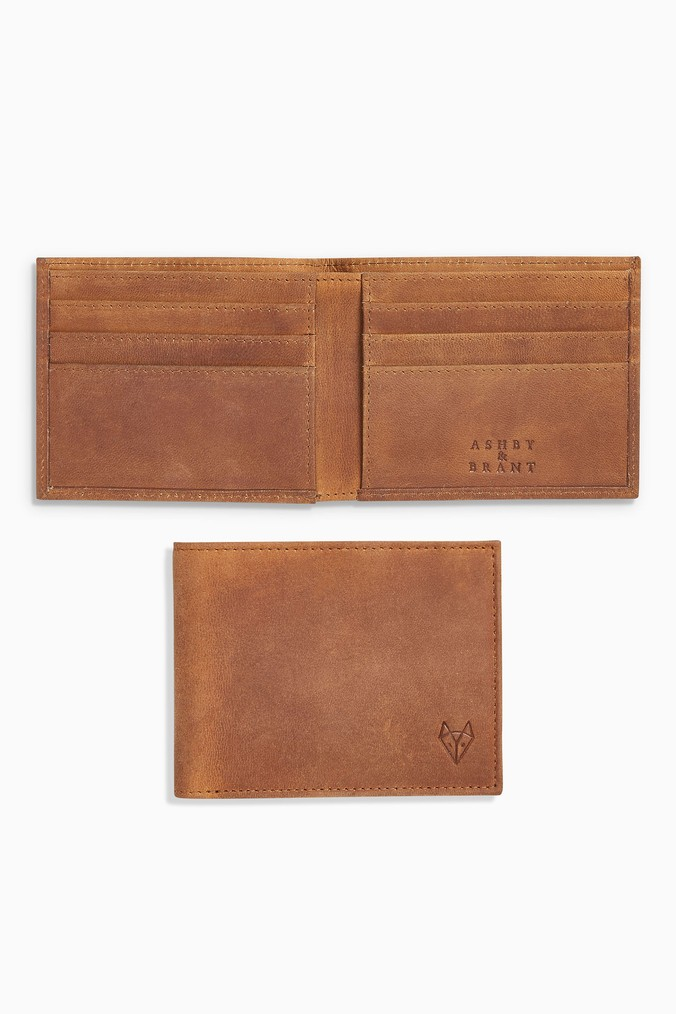 76b639b444 Mens Next Brown Ashby   Brant Bifold Wallet - Brown - Next at Westquay -  Shop Online