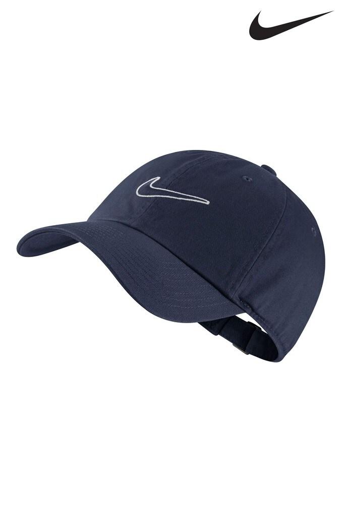 83427427ef9 ... discount mens nike adult navy essential swoosh cap blue 48ac7 e0313