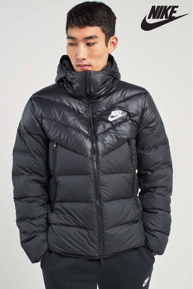 f7018cc27e Mens Nike Down Filled Jacket - Black - Next at Westquay - Shop Online