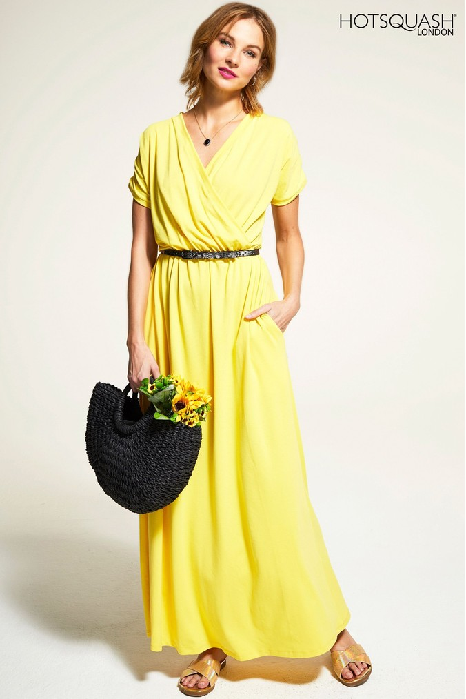 Womens HotSquash Yellow Maxi Dress -  Yellow