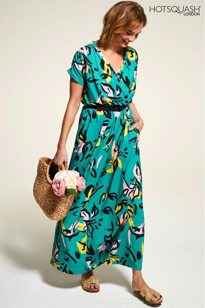 Womens HotSquash Green Maxi Dress -  Green