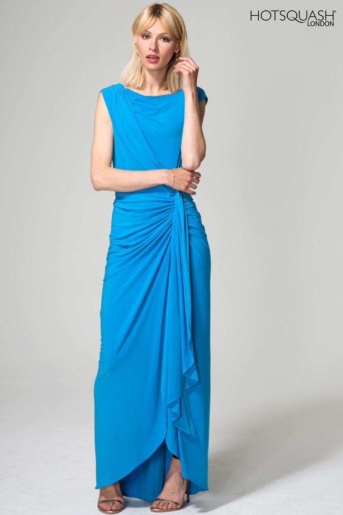 Womens HotSquash Blue Grecian Dress -  Blue