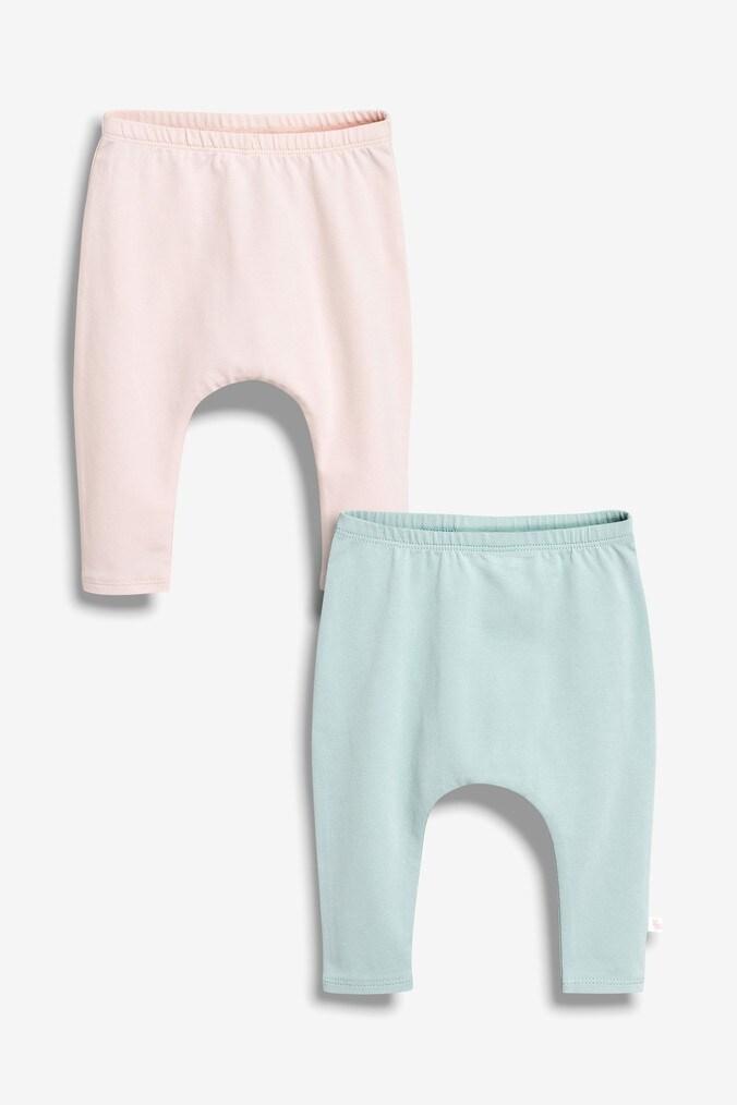 8689b3f47b74 Girls Next Pink Mint Frill Leggings Two Pack (0mths-2yrs) - Pink ...