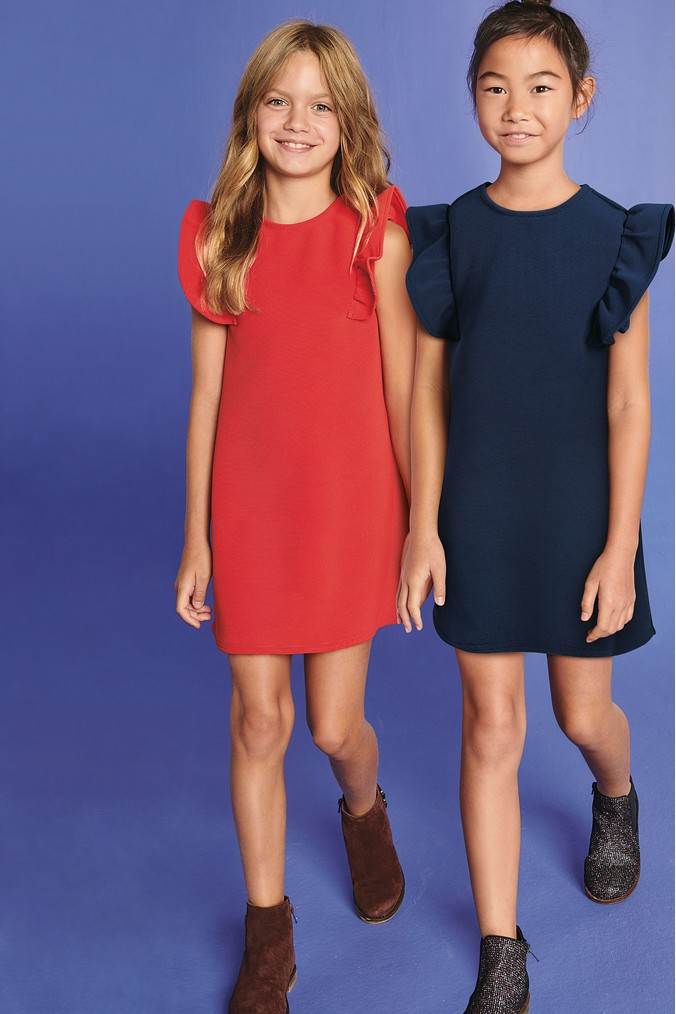 Girls Next Red Ponte Dress (3-16yrs) -  Red